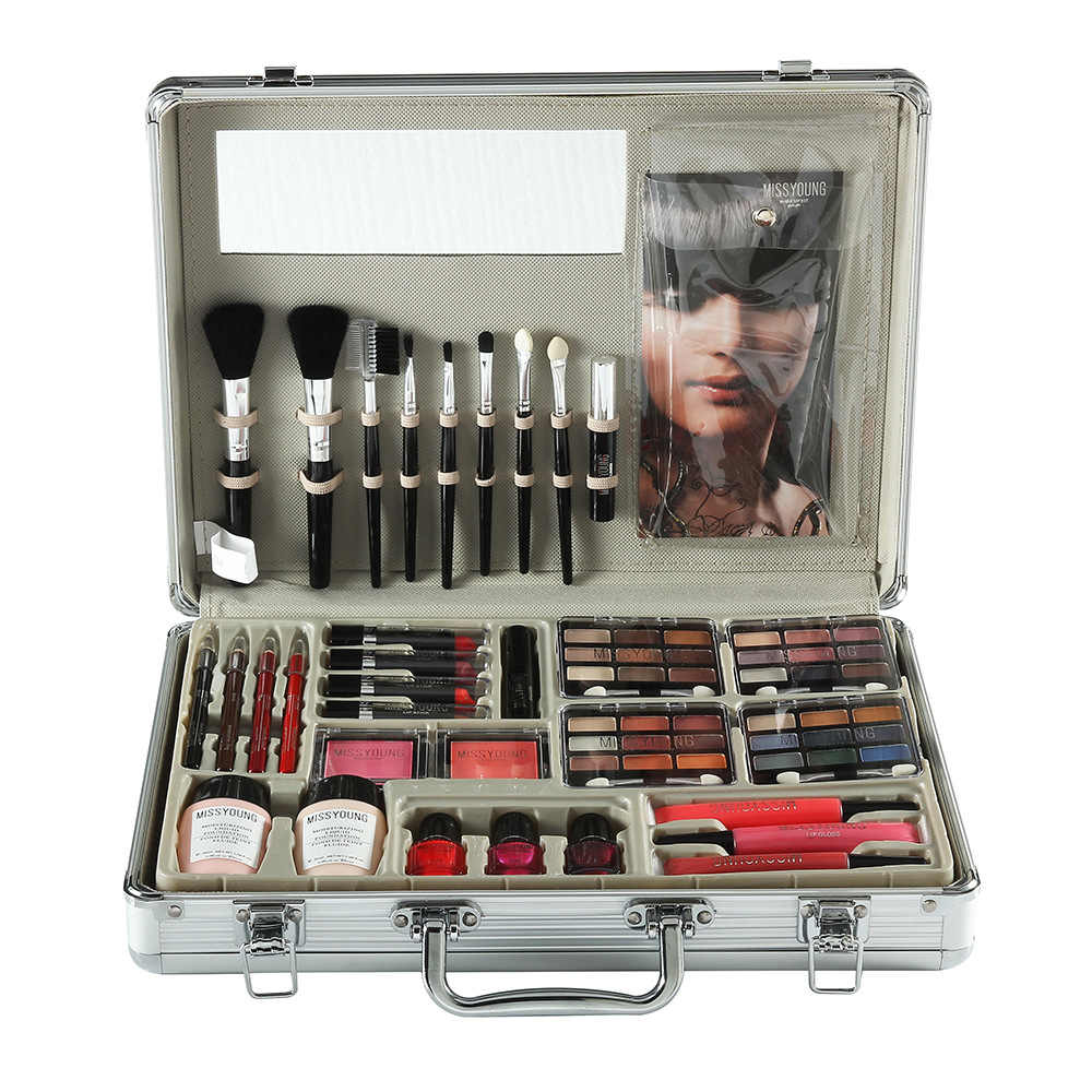 Makeup Set Makeup Kit Makeup Set Kotak Profesional Penuh Profesional Makeup Kit Set Makeup untuk Wanita Lipstik Liquid Foundation