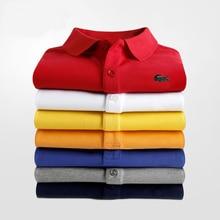 Moda superior lazer esportes marca design europeu e americano primavera e outono masculino de manga curta camisa polo cor sólida