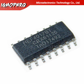 10pcs CD4017BM CD4017 HEF4017BT HEF4017 SOP-16 With each other Counter ICs S Decade Counter new original image