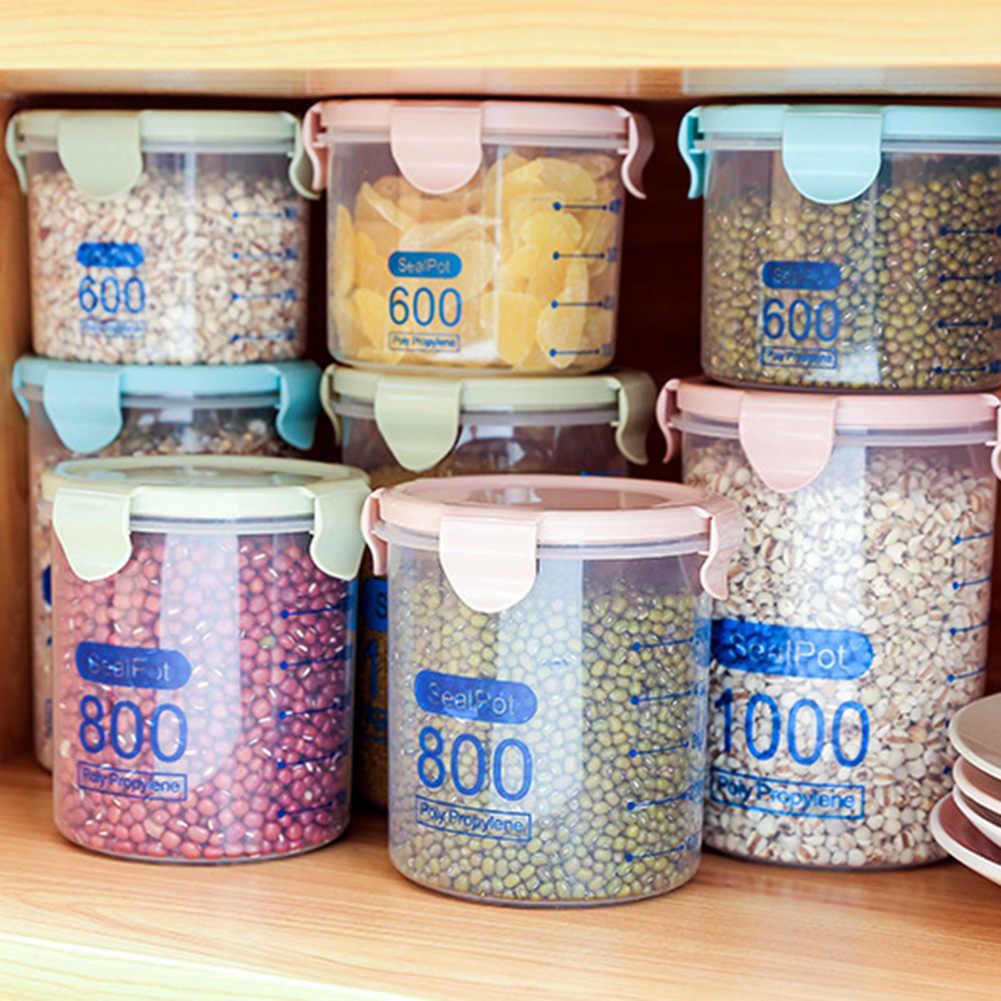 Kuchnia przezroczyste przyprawy fasola herbata ziarno schowek słoik słoik z uszczelką może z pokrywką