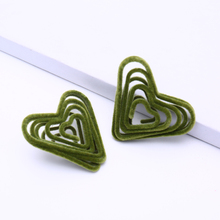 ELEGANCE11 2020 Velvet Kpop Earrings Spiral Heart Stud Earrings for Women Valentines Day Gift Trending Jewelry woodgrain heart pattern valentines day door stickers