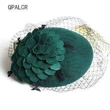 Qpalcr Высококачественная элегантная шерстяная фетровая женская