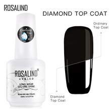 Top-Coat Polish Nail-Gel Diamond Transparent Lacquer Semi-Permanent ROSALIND 15ml