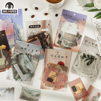Mr.paper 8 Designs Time's Letters Record Escol DIY Project Album Diary Deco Planner Photos Junk Scrapbooking Background