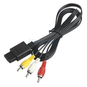 Image 5 - 10pcs מפעל 1.8M 6FT AV הטלוויזיה RCA וידאו כבל כבל עבור משחק קוביית/עבור SNES GameCube/עבור N64 64 משחק כבל הנמוך ביותר מחיר