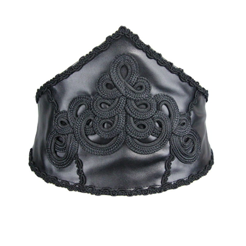 Devil Fashion Gothic Cummerbunds Women Black PU Belt Court Corset