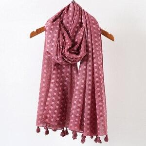 Image 5 - Écharpe hijab surdimensionnée en coton uni