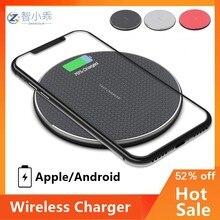 Almofada rápida do carregador sem fio para o iphone qi suporte de carregamento sem fio para o telefone android carro carregador sem fio auto