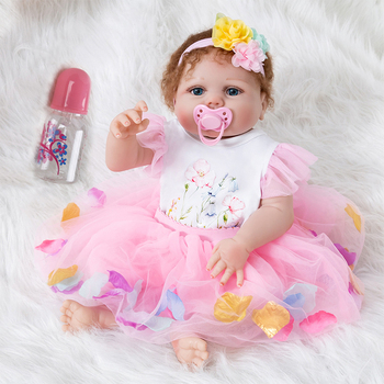 2019 Reborn Doll 55 cm soft silicone Reborn Toddler Baby Dolls Silicone Menina Christmas Surprise Gifts lol doll