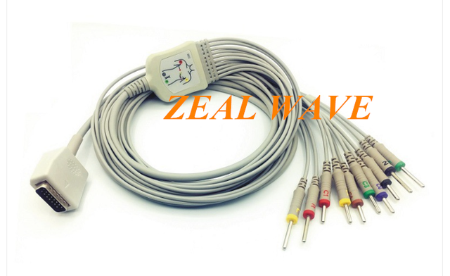 EKG CABLE ECG Cable  One-Piece 10-Lead Shanghai Optoelectronics