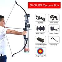 Accesorios de Tiro con Arco recurvo, 30-50 libras, al aire libre juego de caza, dardos de pesca, estabilizador de tiro de cabeza ancha