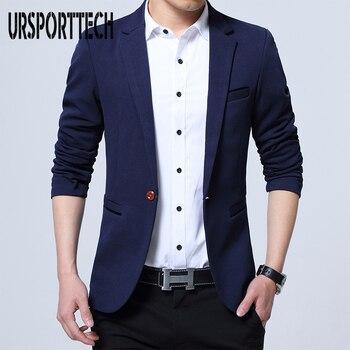 Mens Fashion Brand Blazer British's Style Casual Slim Fit Suit Jacket Male Blazers Men Coat Terno Masculino Plus Size 5XL - discount item  50% OFF Suits & Blazer