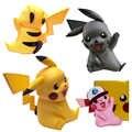 Gran estatua de Pikachu 40cm modelo Takara Tomy Anime japonés Pokemon figura de acción niños regalos de navidad juguetes coleccionable