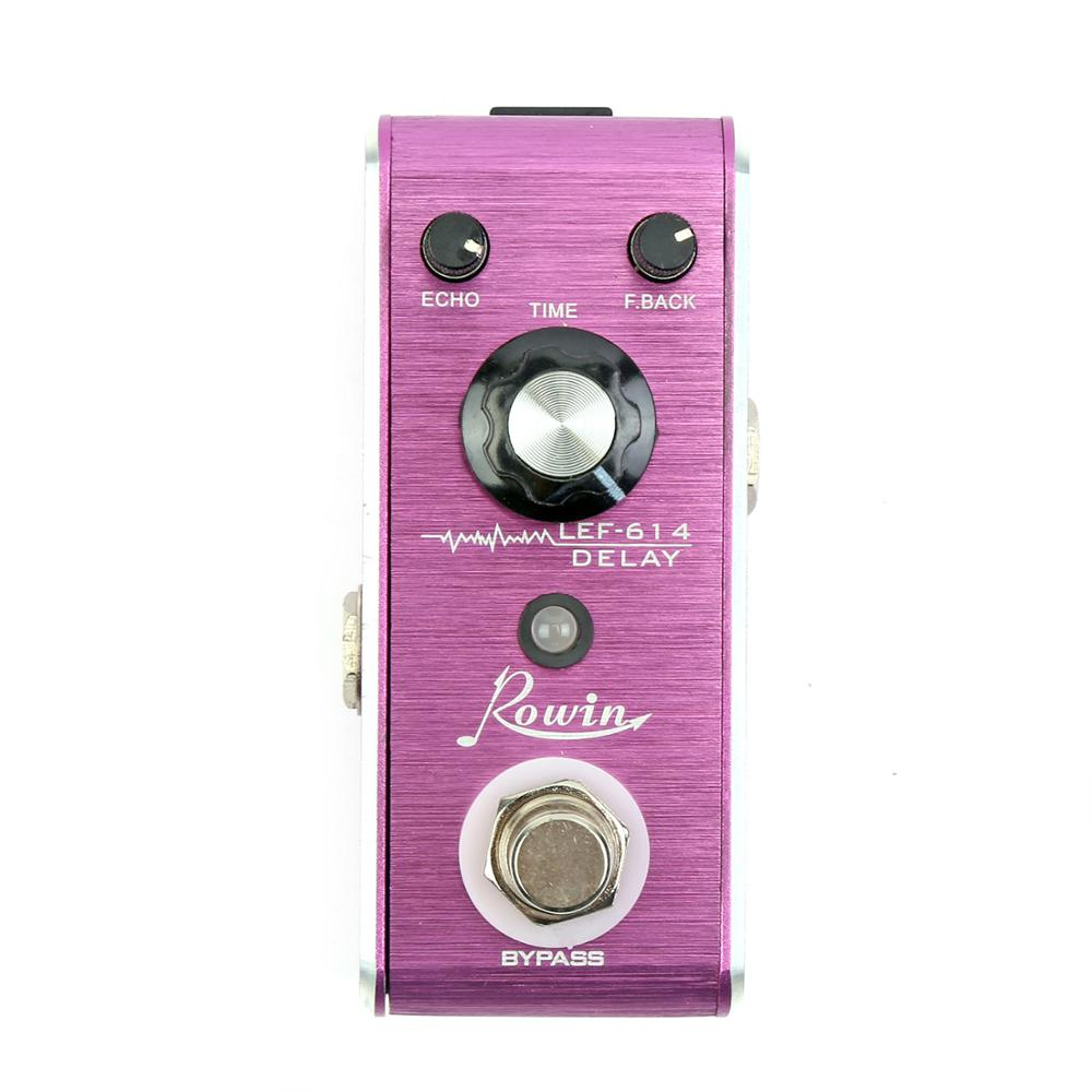 Rowin LEF-614 -Delay Analog Mini Guitar Effect Pedal 20ms To 600ms True Bupass Ships Free