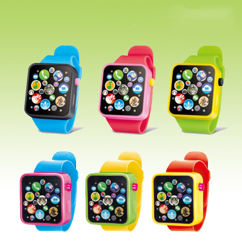 6Colors Fashion Baby Toys Watch Kinds Infant Story 3 Children\\\'s Sound Over Years Smart Multi-function Watches Toy
