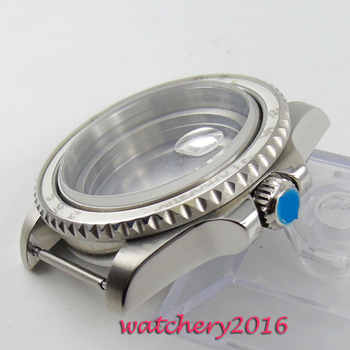 New 40mm parnis steel polished stainless case sapphire hardened mineral glass fit 2824 2836 Miyota 8215 movement Watch Case