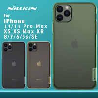 Per iPhone X XR XS Max Caso di Nillkin TPU 0.6 millimetri Ultra sottile Cassa Del Telefono Della Copertura Del Silicone per il iphone 8 7 6 6 s Plus 5 5 S SE Caso Nilkin