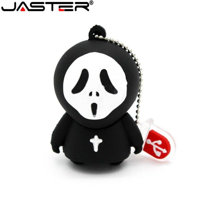 JASTER Horrific Ghost USB Flash Drive Pen Drive Cartoon U Disk Memory Stick Pendrive 4GB 8GB 16GB 32GB Halloween Gifts