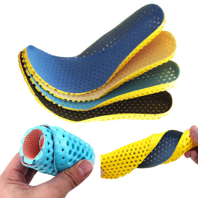 Stretch Breathable Deodorant Running Cushion Insoles Feet Man Women Comfortable Insoles Shoes Sole Orthopedic Pad Memory Foam
