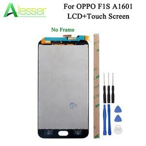Image 1 - Alesser для OPPO F1S ЖК дисплей и сенсорный экран дигитайзер для OPPO F1S A59 ЖК дисплей A1601 запасные части + Инструменты