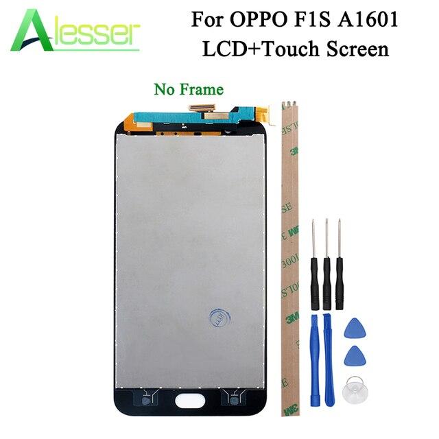 Alesser ため OPPO OPPO ため F1S Lcd ディスプレイとタッチスクリーンスクリーンデジタイザ F1S A59 ディスプレイ Lcd A1601 交換部品 + ツール