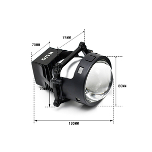 Image 4 - 3.0 cala 90W Bi obiektyw LED projektora wysoka i martwa wiązka reflektor samochodowy żarówka modernizacja modernizacja uniwersalne szybko zapalające się Car Styling