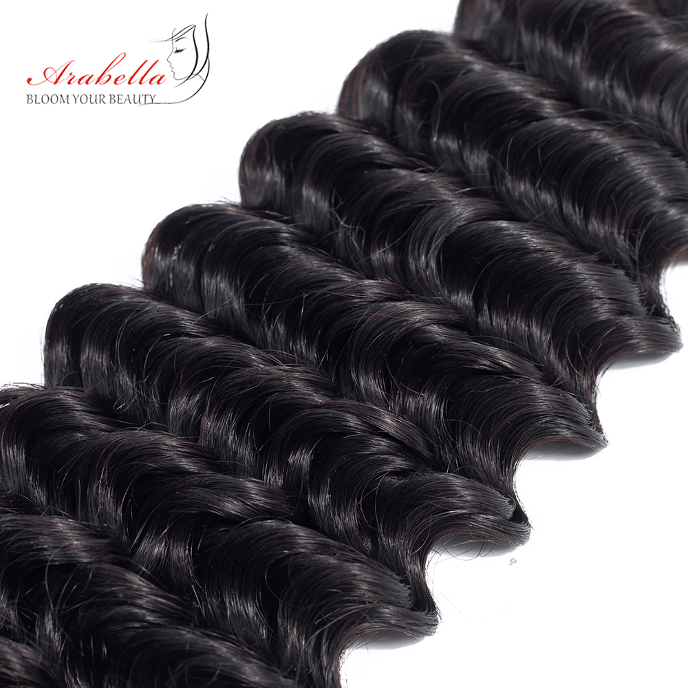 Deep Wave Hair Bundles 3 Pieces Natural Black Color Hair  Arabella  Hair  Bundles 6