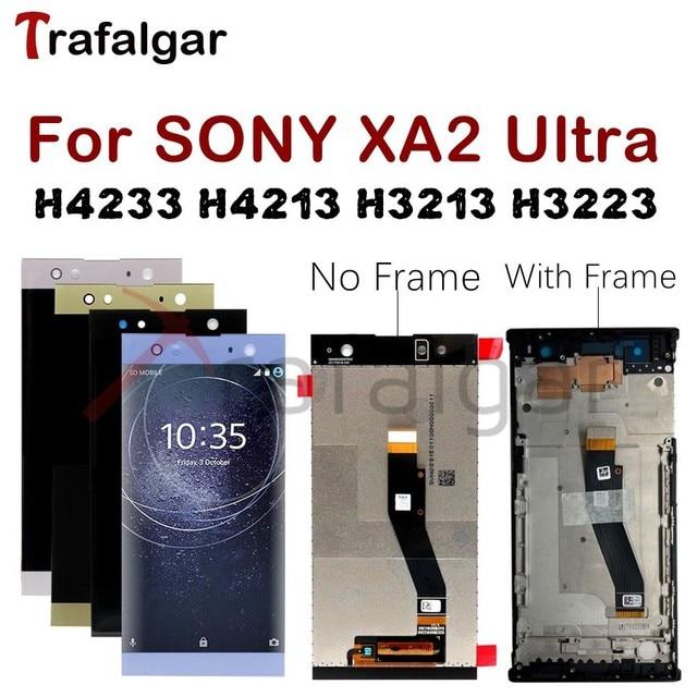 شاشة 6.0 بوصة سوني XA2 الترا LCD تعمل باللمس محول الأرقام H4233 H4213 H3213 H3223 لسوني اريكسون XA2 الترا LCD C8 استبدال