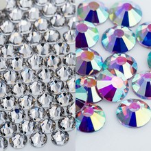 Crystal Castle Shiny Bulk Hot Fix Rhinestone For Clothing AB White Clear Crystal Hotfix Strass Glass Hotfix Rhinestones