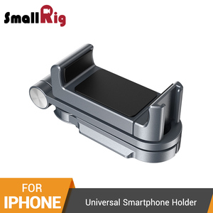 SmallRig Universal Smartphone Holder For Iphone X/XS Vlogging Accessories Mobile Phone Clamp Mount With Cold Shoe Mount -2415(China)