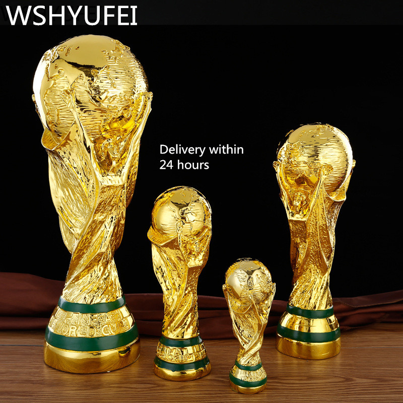 Europe Golden Color Resin World Cup Football Champion  Trophy Souvenir Mascot Toy Home Office Desk Decor Birthday Christmas Gift