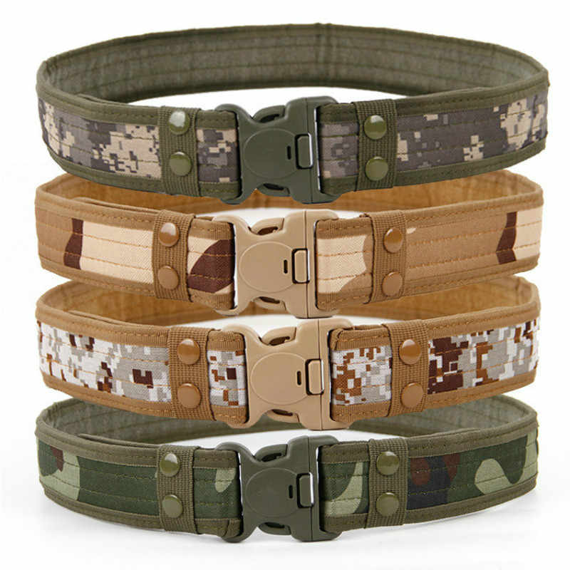 2019 Hot Mens Tactische Riem Militaire Nylon Riemen Outdoor Multifunctionele Training Riem Hoge Kwaliteit Camouflage Taille Band