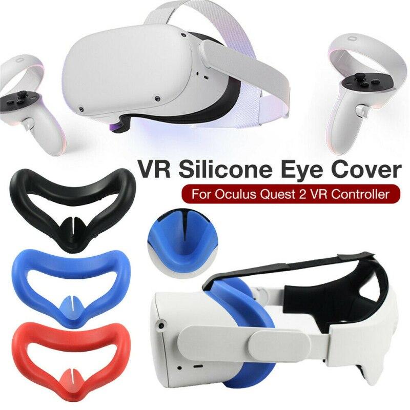 Silicone macio sweatproof olho face pad capa para oculus quest/2 oculus rift s vr óculos fone de ouvido anti-escapamento rosto almofada