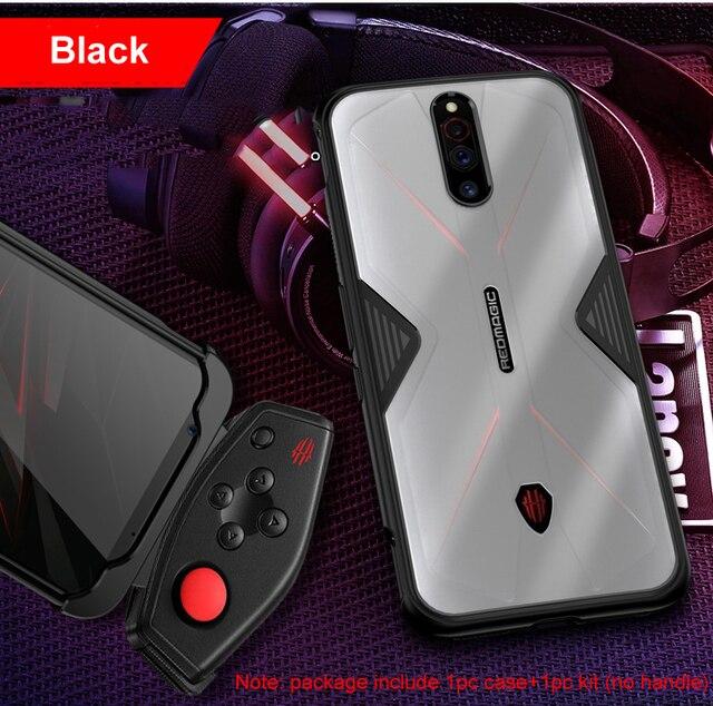 ل النوبة الأحمر ماجيك 5 جرام الهاتف 6.65 بوصة حالة اكسسوارات لينة مكافحة تدق سيليكون قطعة تنفس شفاف الألعاب غطاء فوندا