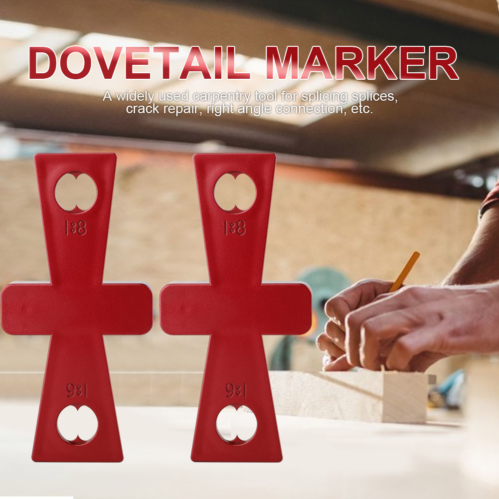 2PCS DIY Dovetail Scribe For Woodworking Carpenter Templates Drawing Line Tool Gauges Measuring Tools