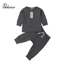Pudcoco bebê menina do menino de algodão macio pijamas roupas conjunto pijamas roupa de dormir roupa para recém-nascidos infantil crianças pano do miúdo