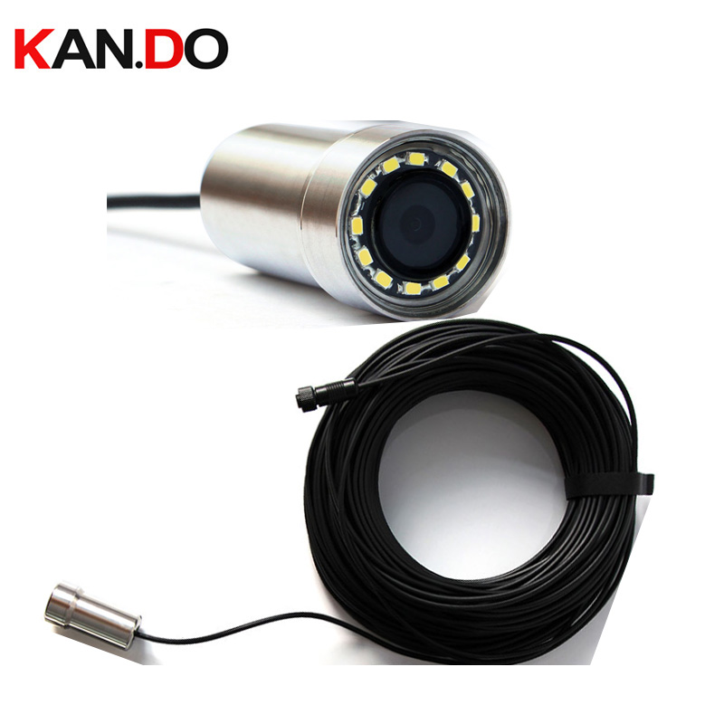 200M Cable IP68 100m Deep Underwater Camera F1.2 160 Degree Lens 2.0MP Camera Deep Inspection Endoscope Camera AHD TVI CVI CVBS