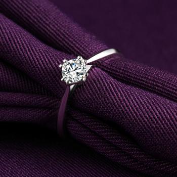 18k Gold And White Gold Diamond Ring Genuine Platinum Gold Gold Wedding Marriage Couple Diamond Ring 2