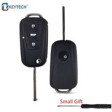 OkeyTech 3 Botões Remoto Virar Folding Car Key Shell Para Novo Roewe MG GS MG7 GT GS 350 360 750 w5 Caso Em Branco com Chave De Fenda