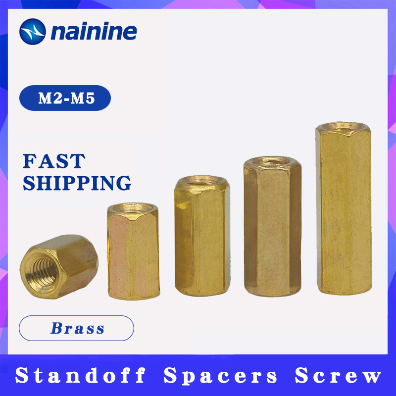 [M2 M2.5 M3 <font><b>M4</b></font> M5 M6] <font><b>Brass</b></font> Studs Pillars <font><b>Standoff</b></font> Spacers Screw Isolation Spacing Screws B039 image