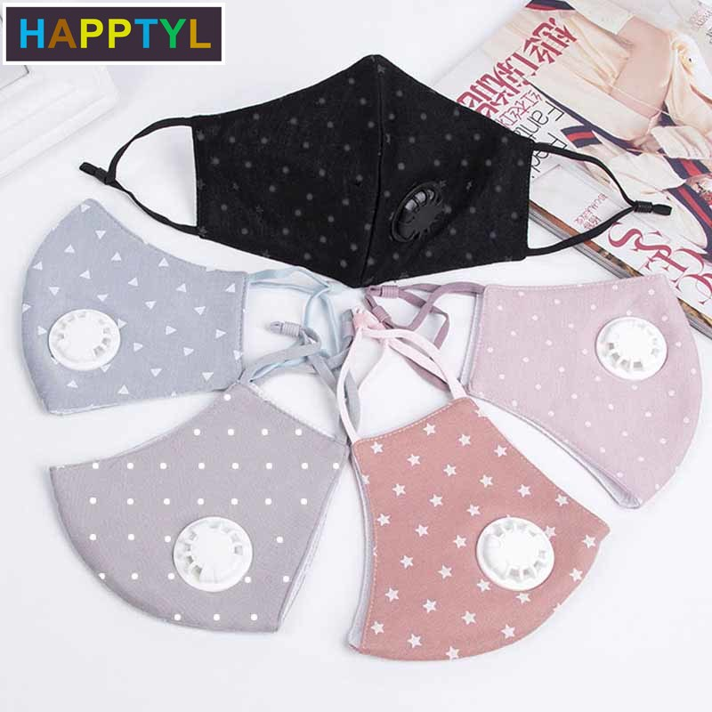 HAPPTYL 1Pcs Fashion Unisex Cotton Breath Mouth Mask Anti-Dust Mask Cloth Activated Mouth-muffle