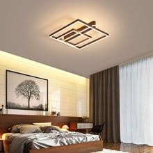 Brown/Gold Modern LED Ceiling Lights Aluminum Acrylic Lamp for living room bedroom lamparas de techo colgante moderna