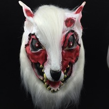 Halloween Costume Mask Party Props Masks Horror Devil Wolf Head Full Silicone Animal Decors