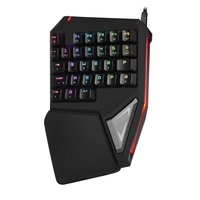 Delux gaming mini keyboard T9 Pro/t9 plus mechanical wired Professional keyboard 7 Color Backlit Single Hand  Ergonomic Keypad|Keyboards| |  -