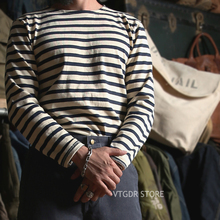 Bronson Breton Stripe Shirts Long Sleeve Vintage Men French Sailor Naval T Shirt