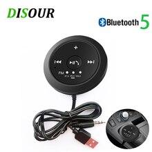 DISOUR Magnético kit Mãos Livres Bluetooth FM Transmissor Do Carro Do Bluetooth Receptor De Áudio 3.5 milímetros AUX Estéreo Sem Fio Adaptador Dongle 5.0