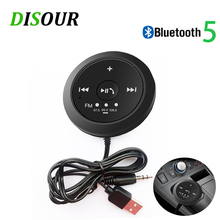 DISOUR Magnetische Bluetooth Audio ontvanger Handsfree Car kit FM Bluetooth Zender 3.5mm AUX Stereo Draadloze Adapter 5.0 Dongle