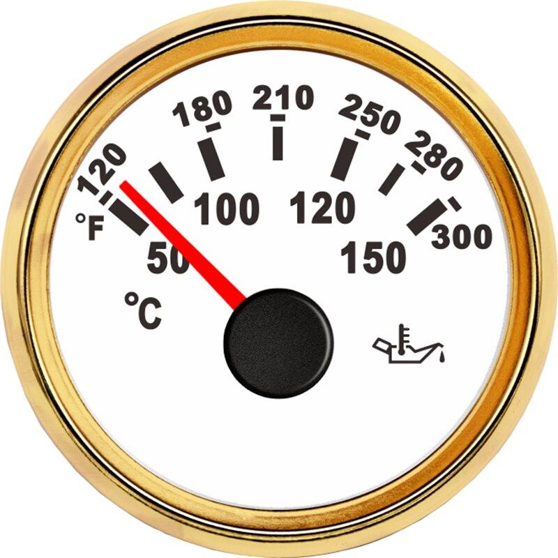 Auto Öl Temperatur Gauge 52mm Öl Temp messgeräte Meter Anzeige 50-150 Celsius 12V 24V Für auto Boot Yacht schiff racing digital