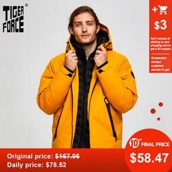 Forza tigre Oversize Degli Uomini di Inverno Giacca Da Sci Sport Giacca Per Gli Uomini giacca Da Neve Impermeabili Falso in Due Giacca Con Cappuccio Maschile Addensare cappotto