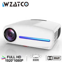 WZATCO C2 1920*1080P Full HD LED Projector with 4D Digital Keystone 6500Lumens Home Theater Portable HDMI Beamer LED Proyector